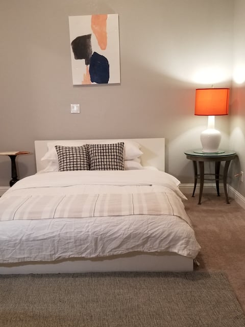 1bedroom / private bath Suite & Patio in New Home