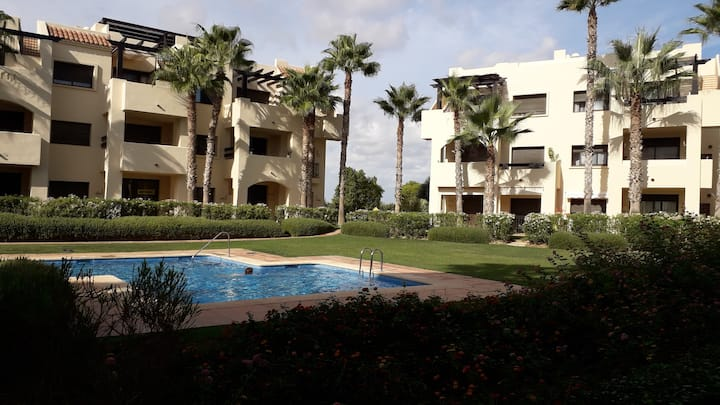 Roda Golf Resort . 2 bed apartment . peaceful