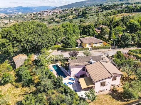 Maison individuelle avec piscine privée en Ombrie