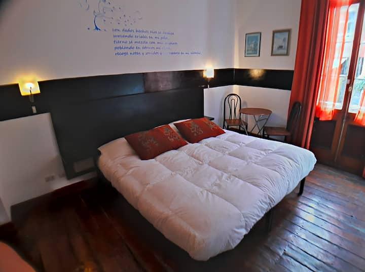 Habitación doble cama KING con baño Privado c/tina