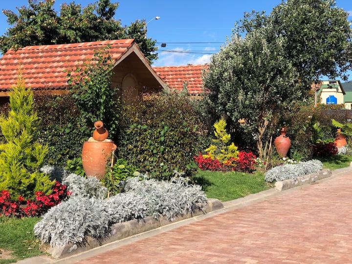 Cabaña FEIJOA campo,   jardines, fogata