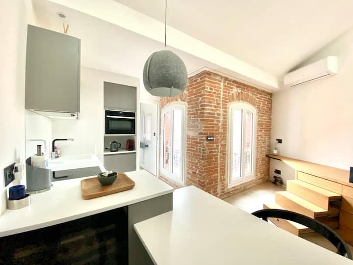 Le Nid - appartement vue sur les toits de Toulouse