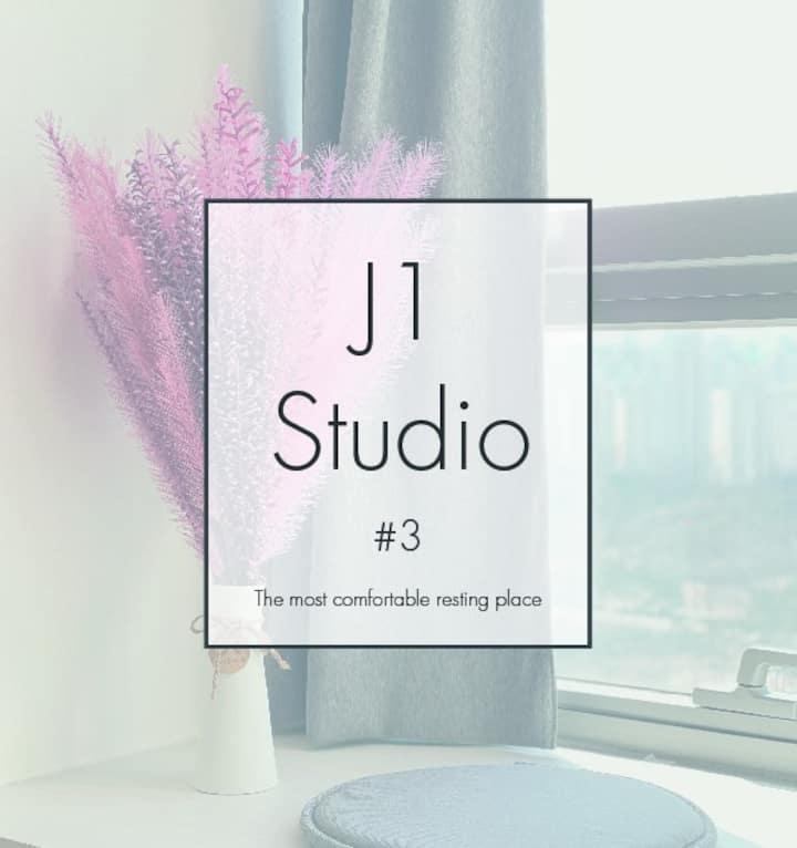 [J1 studio#3] 평촌역_탁트인 고층 공원뷰▶Netflix (장기할인☆)