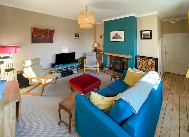 Family sized living room