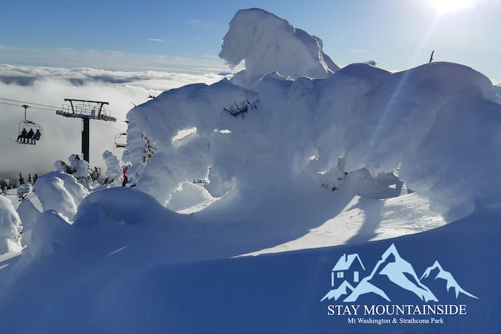 Stay Mountainside: Mt Washington & Strathcona Park