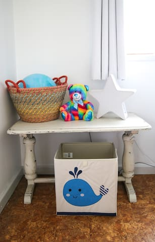 Selection of toys for the kids to enjoy.   Our home is set up with some extra family comforts for your enjoyment.