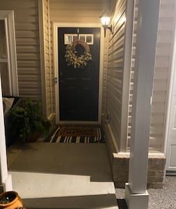 Small step to front door
