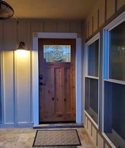 Both entry doors have a small lip only for entry. No stairs throughout the house.