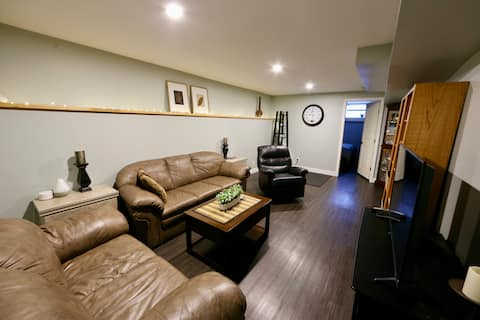 Clean, newly renovated, central location suite .
