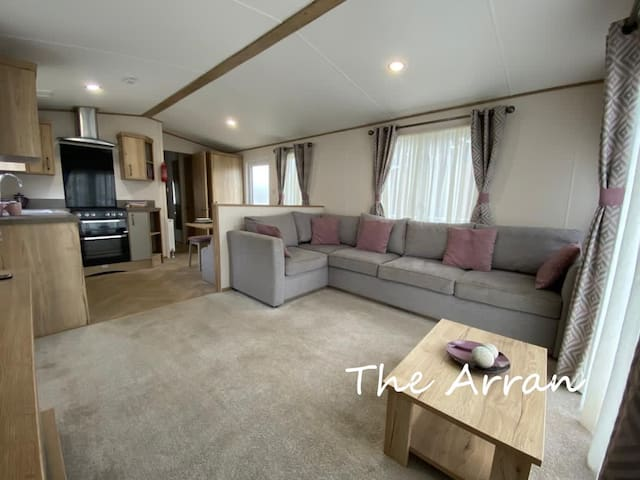 The lounge area - the settee opens out into a double bed.