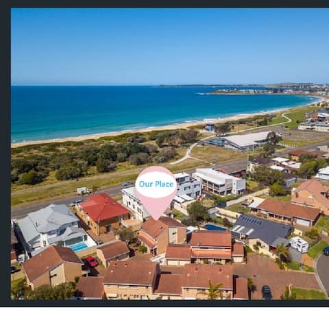 Footsteps to sand, surf & sun at Warilla Beach