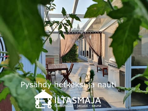 Modern guesthouse with sauna and heated jacuzzi