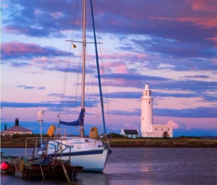 Sleep@sea, off-grid coastal location, vintage boat