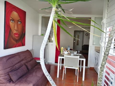 Studio Maelou Anse des Rochers et sa vue Jardin