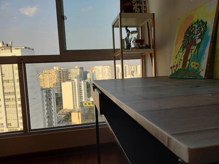Flat with the best view near Plaza Salaverry mall