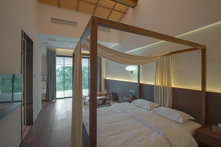 【云隐】岳麓山/独立景观阳台/浴缸/观景大床房