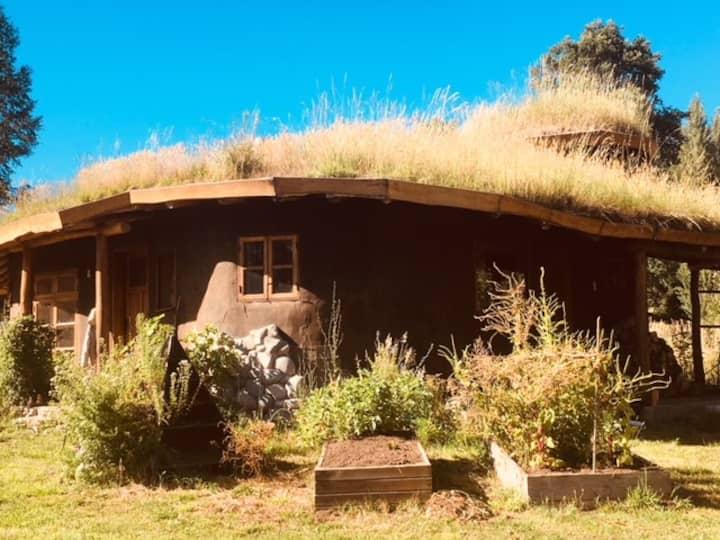 Mágica cabaña en medio del huerto, cerca a termas