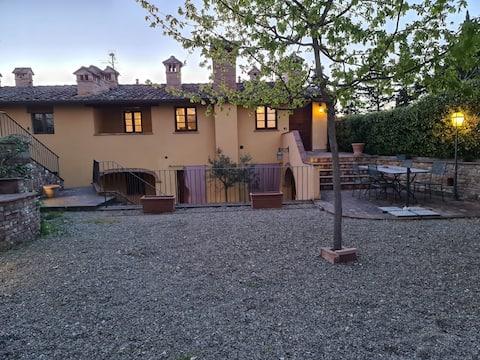 Appartamento in casale con piscina (Il borgo n.8)