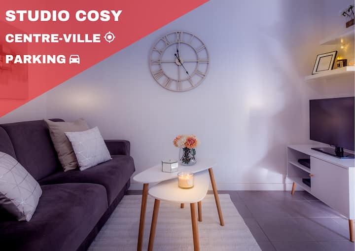 Studio cosy - hypercentre CANNES + parking privé