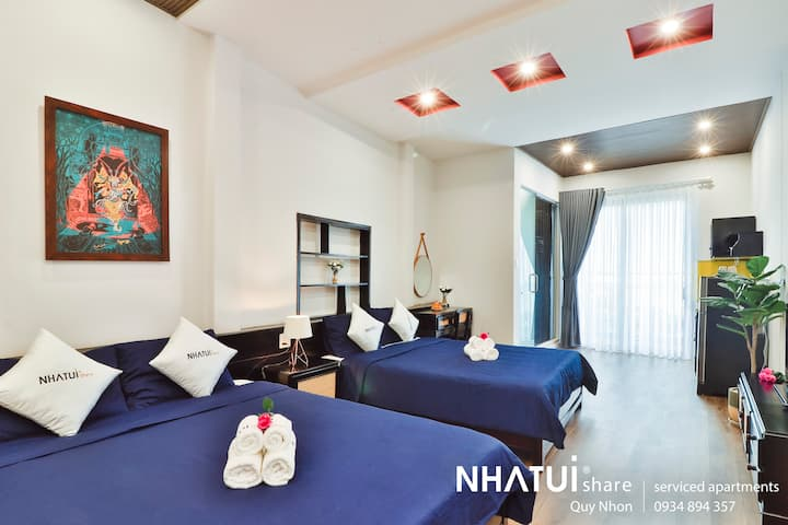 NTS Quy Nhơn share 3 beds for big group 6 persons