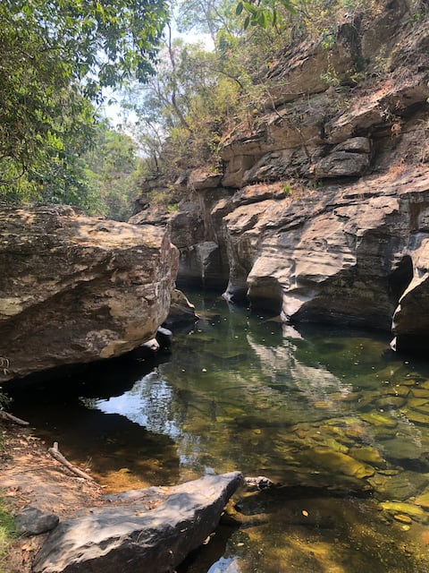 Piccola casa a Chapada, con accesso al  fiume