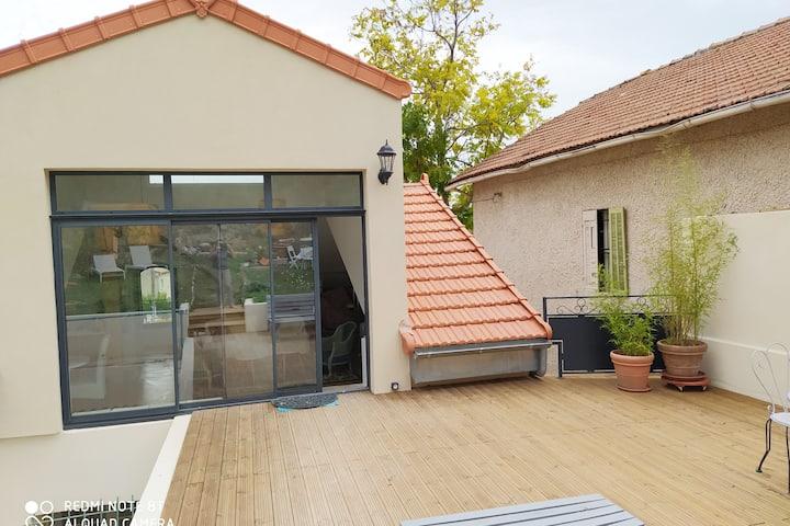 Home garden - Parking -AIX en PROVENCE - 2 beds