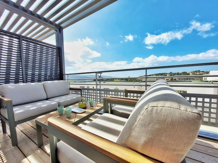 ☀Appartement Lumineux☀Double terrasse★WIFI★Clim