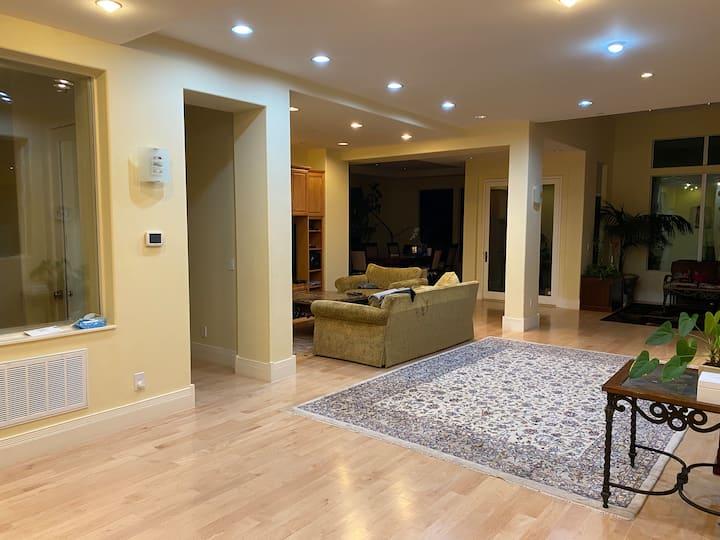 Nice room with bathroom. Spacious house
