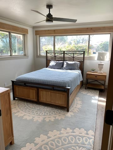 Master bedroom (has curtains)