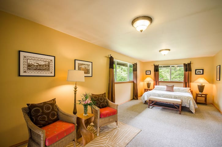 Large Master Bedroom with King Bed and on suite Bathroom