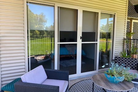 there are double sliding doors to the guest areas and in the main house