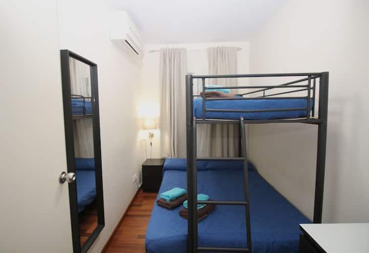 Económica habitación para viajeros