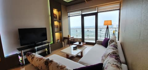 At the 24 Floor Luxurious apartment amazing view