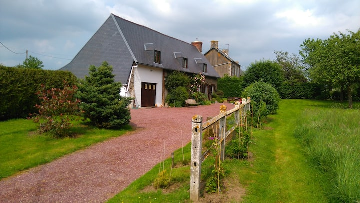 Normandy Free standing house Longeres in 1 acre