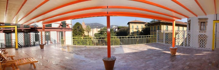 Incerpi penthouse, terrace over the roofs
