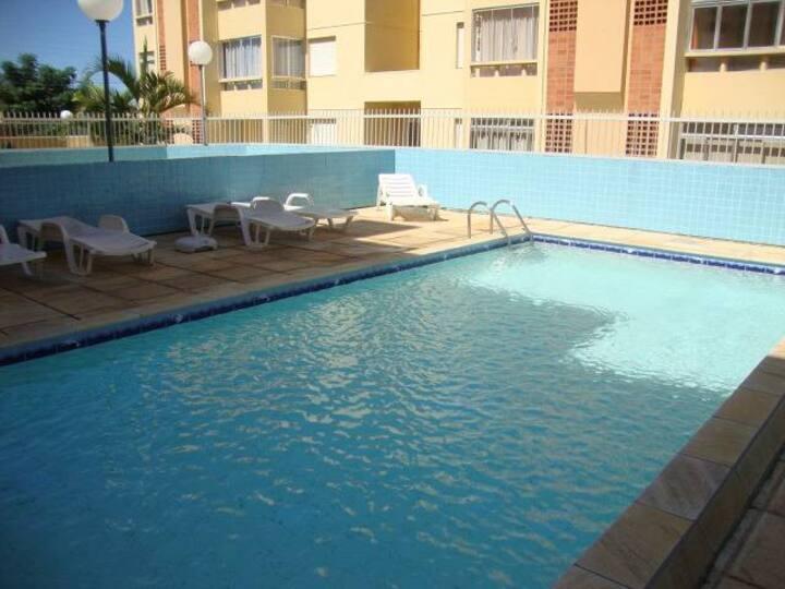 Lindo Apto c/ WIFI e piscina térmica coberta.