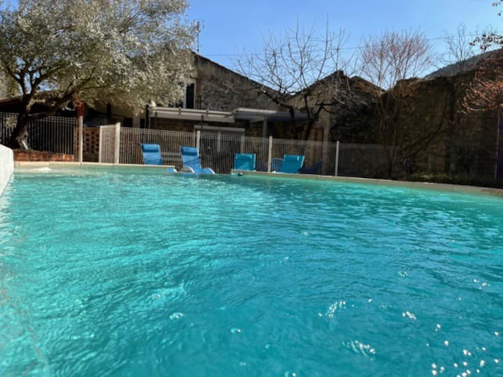 Cevenol cottage with private pool and Jacuzzi
