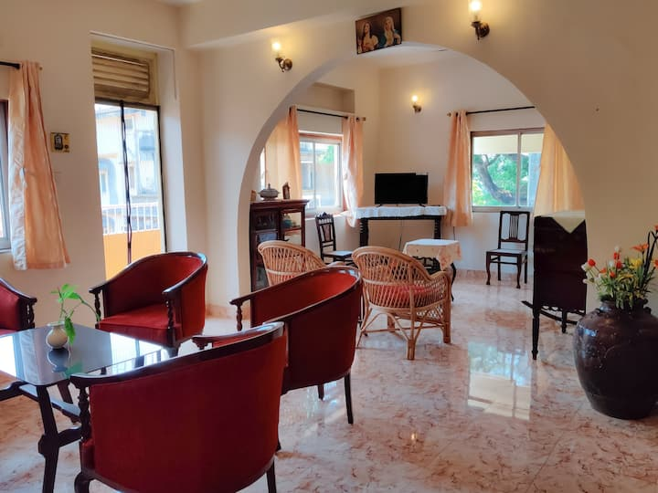 2BHK Portuguese Style Luxury Apartment w Bathtub