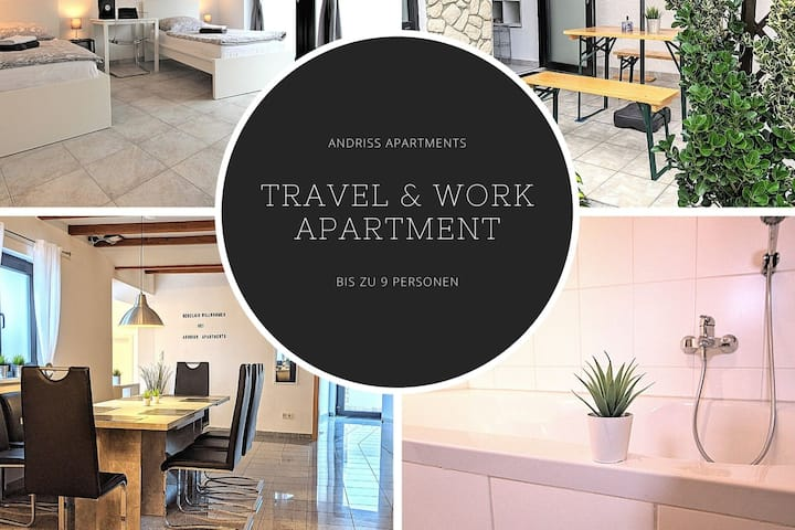 ✪ Andriss Apartments -Travel & Work bis 9 Pers. ✪