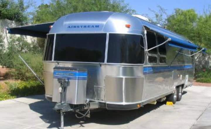 Airstream Glamping with HOT TUB,  in the Foothills