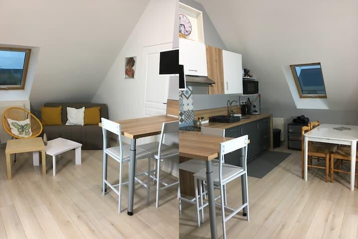 Appartement calme Guérande , à 500 m des remparts
