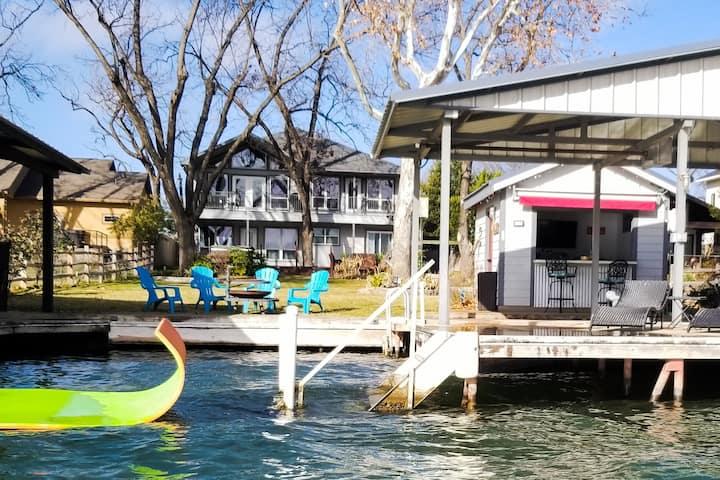Lakefront Family FUN w/ Hot Tub & Lake-Side Cabana