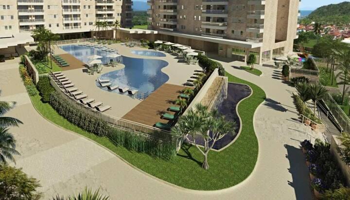 Apto lindo/confortável com acesso a praia Riviera