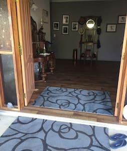 Easy access to front door with wide double doors