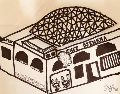 Bamako Home Auberge Restaurant with rooftop Dome