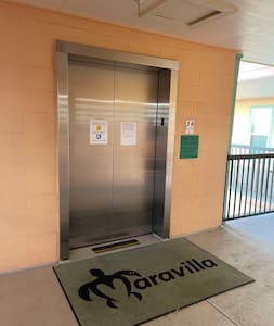 The unit is located on the 2nd floor with elevator and stair option for access. Elevator option: is 2-3 min walk Stair Access: leads directly to unit. Unit is located in the rear of complex which allows additional privacy.