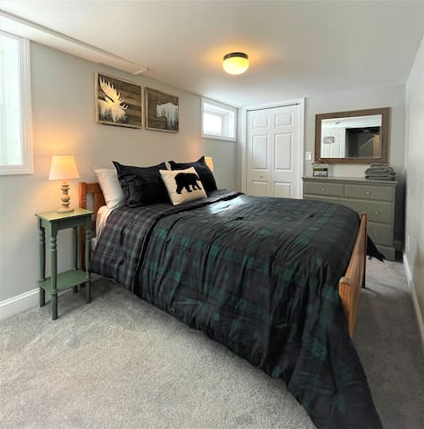 Bedroom #3 - Full bed. Located on lower level of house. Adjoins with bedroom #4