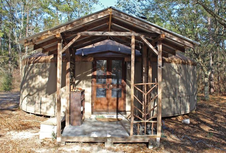 Large Yurt on 111 Pristine & Private Acres