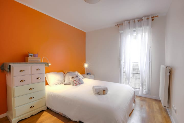Colored bedroom