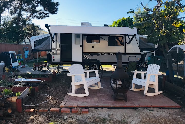 Backyard Camping Near the Heart of San Diego